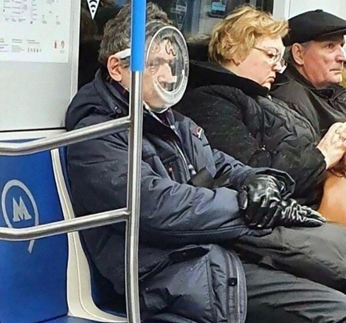 Metroda Çekilmiş En Komik 20 Maske Fotoğrafı