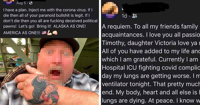 """""""Bana Koronavirüs Enjekte Edin"""" Diyen Trump Destekçisi, Covid'den Öldü"""
