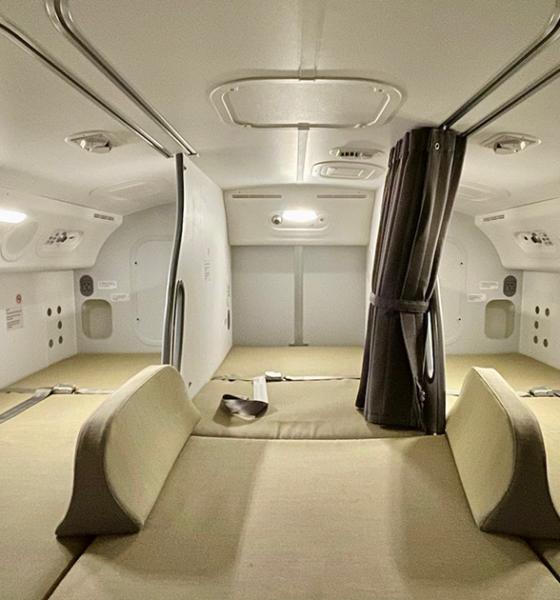 Uçakların İçinde Gizli Bir Dinlenme Odası Varmış!