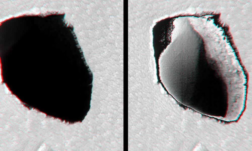 NASA Mars'ta Gizemli Kraterler Buldu