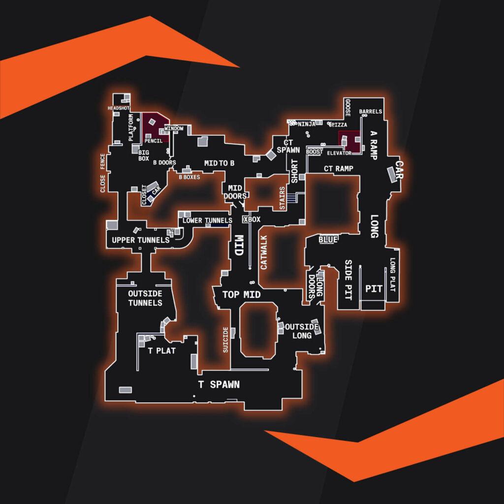 CSGO Dust 2 Harita Yerleri